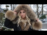Video stylish parkas with fur canadian raccoon Model that will never go out of fashion! Hit sales