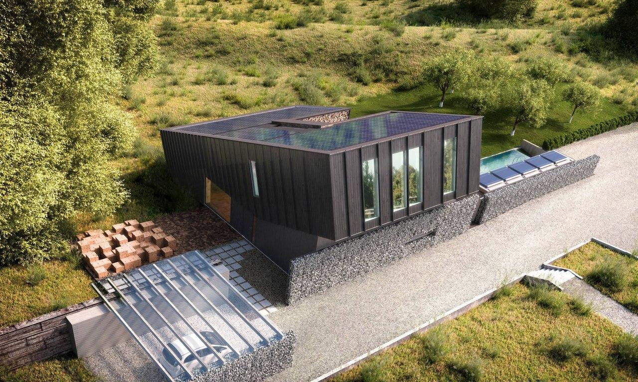 ZEB Pilot House - экспериментальный энергоэффективный дом, который производит энергии больше, чем ее потребляет.