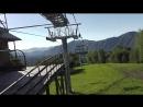 Канатно-кресельный подъемник. Подъем на гору Малая Синюха 1012 метров над уровнем моря. Полное видео спуска