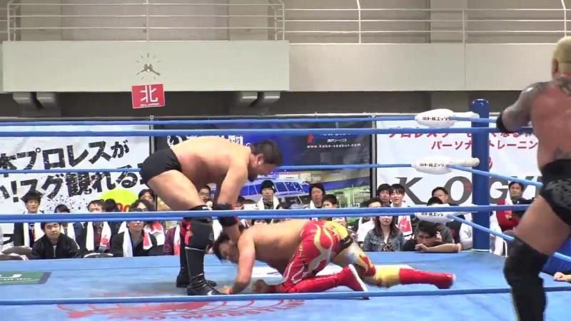 Jun Akiyama, Shuji Ishikawa, The Bodyguard vs. Kento Miyahara, Naoya Nomura, Ryoji Sai (AJPW - Champion Carnival 2018 - Day 4)