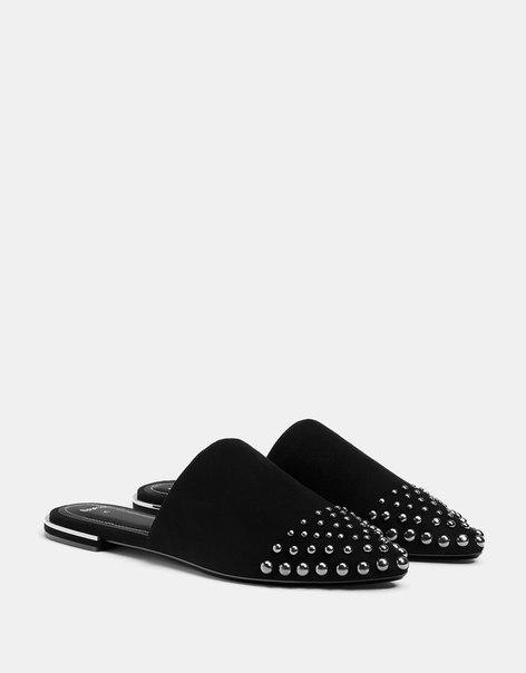 Туфли-бабуши с заклепками
