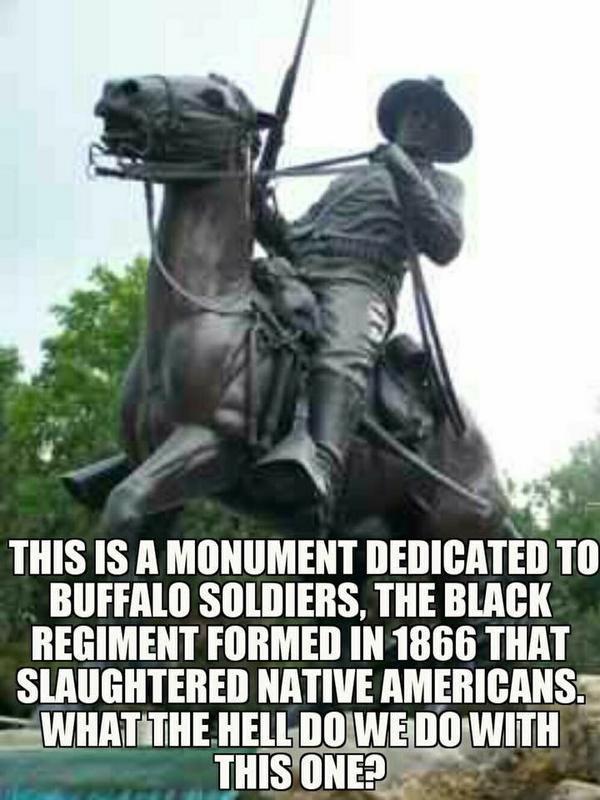 Памятник бойцам негритянского полка