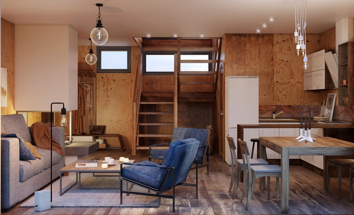 Проект маленького дачного домика.