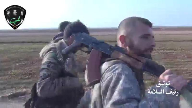 Герои Полка Аль-Хайдар Tiger Forces в деревне Кафрия аль-Маарра в южной местности провинции Идлиб