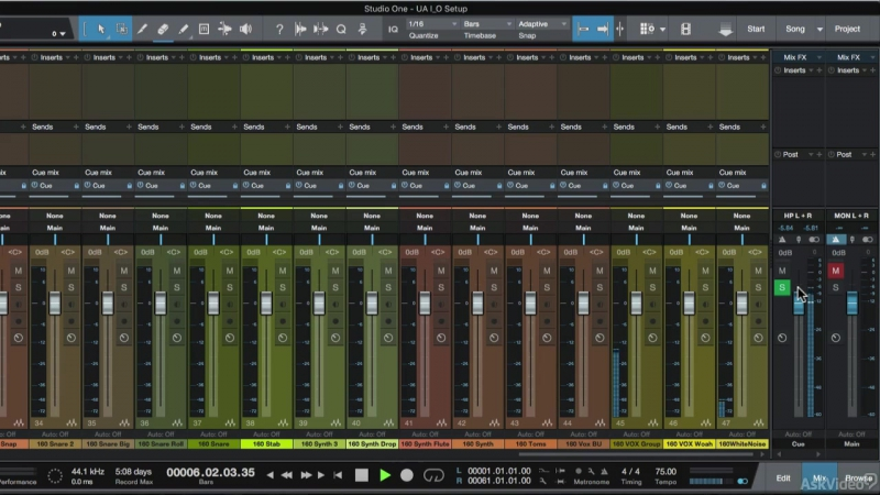 7. Cue Mixes [Ask Video] Universal Audio 201: Learn The Mix Console UAD2 [2016, ENG]