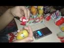 Распаковка коробки новогодней серии яиц Киндер сюрприз часть вторая