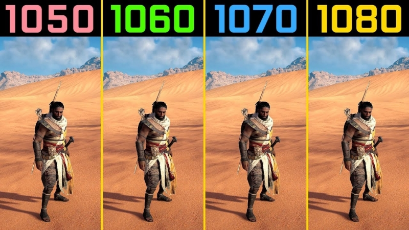 Wolfgang Assassin's Creed Origins GTX 1050 Ti vs GTX 1060 vs GTX 1070 vs GTX 1080