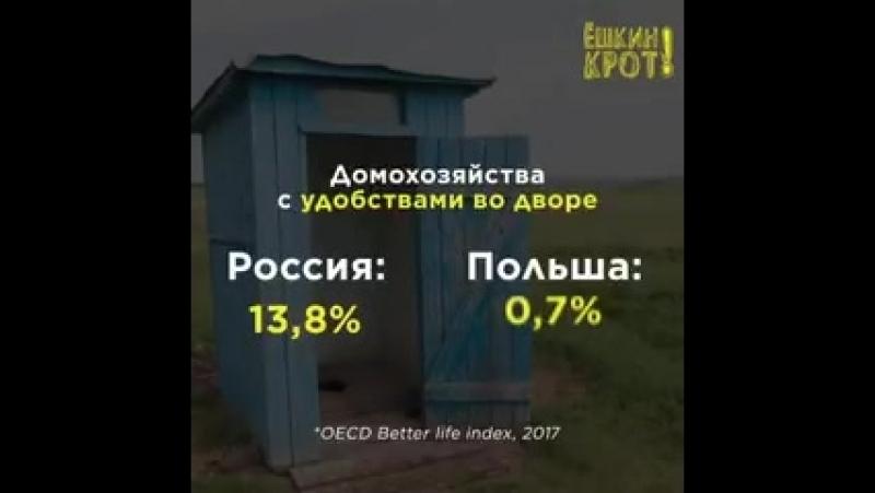 По телевизору любят рассказывать про бедную и загнивающую Польшу. Сравним