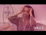 SHANINA SHAIK getting ready for VOGUE PARIS