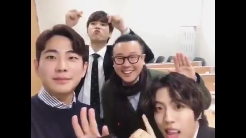 Actualización en Instagram de Michael Lee con Dongwoo y Woohyun -