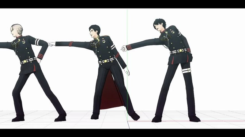 【MMD】Owari No Seraph - Kureto, Guren & Shinya