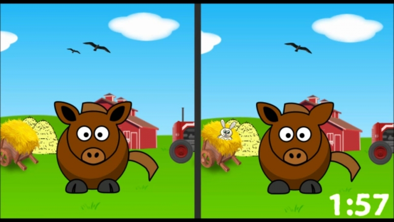 Spot the Difference Fun For Kids Horse Find the Difference Game Learn Counting