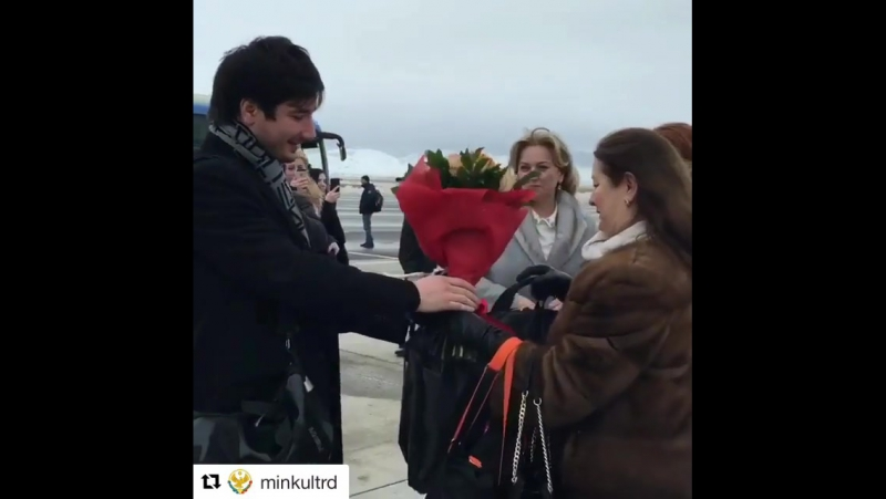 Встреча Селима Алахярова в аэропорту Дагестана