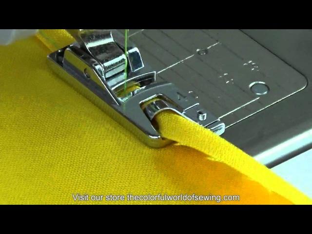 Лапки для подрубки подшивки изделий на швейной машине How To Sew Rolled Hems with the Narrow Hemmer Foot