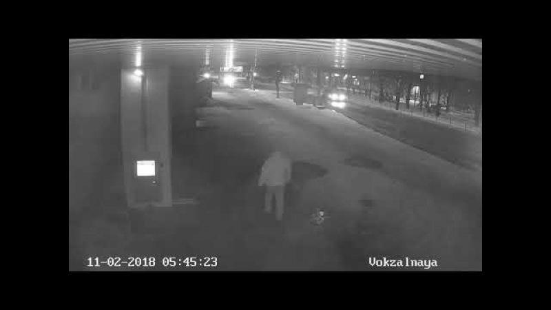 Аварія Біла Церква 11.02.18, запис камер відеоспостереження.