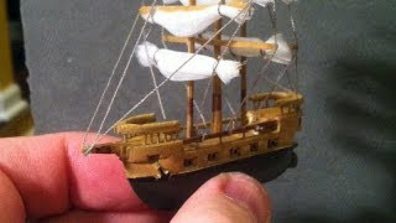Miniature Balsa Wood Boat Carving Sculpey Ocean, Time-Lapse, Build DIY Carved Toy Boat from Balsa