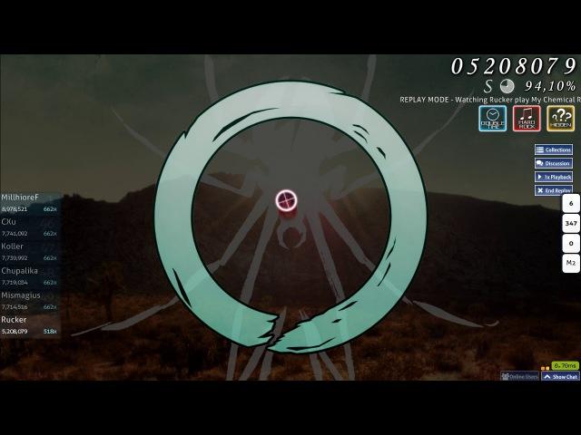 Osu! Archive   Rucker   My Chemical Romance - Na Na Na [Hard] HD,HR,DT   FC 94.54