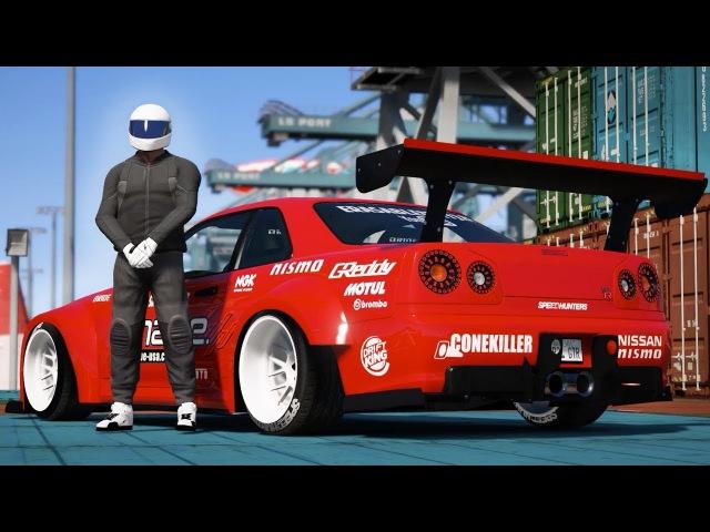 GTA 5 - NISSAN GTR DRIFT MONTAGE! (Port of Los Santos Gymkhana)