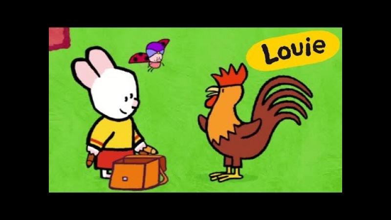 Cockerel - Louie draw me a cockerel | Learn to draw, cartoon for children