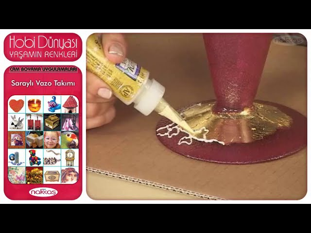 Cam Boyama Uygulamaları - Saraylı Vazo Takımı