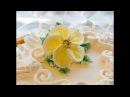 КАК СДЕЛАТЬ ТРОПИЧЕСКИЙ ЦВЕТОК ИЗ КРЕМА how to make a cream flower
