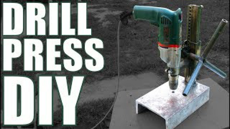 Homemade steel DRILL PRESS stand
