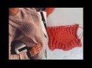 Супер модный узор спицами Ромб и английская резинка . МК. Схема.