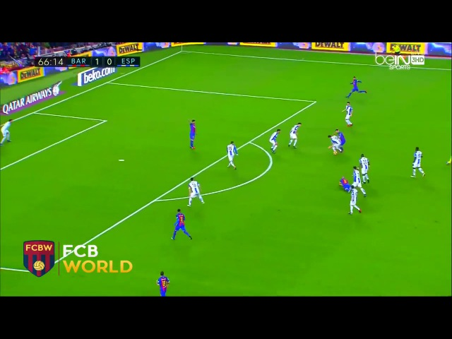 Crazy arabic commentary Messi dribble vs Espanyol