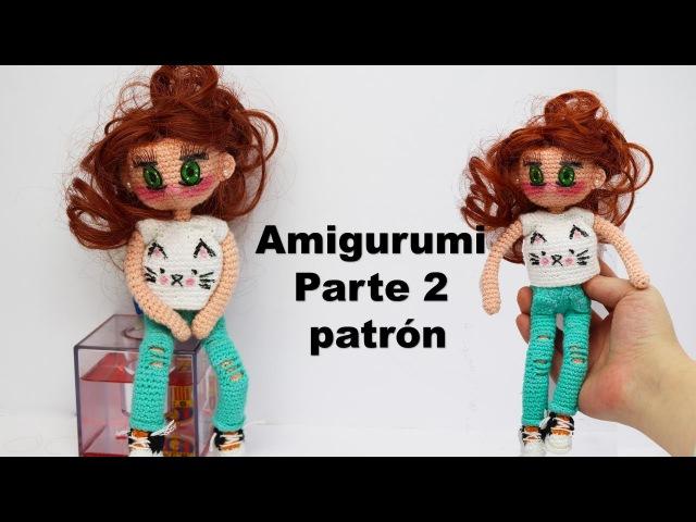 Amigurumi, muñeca moderna adolescente parte (2/4)