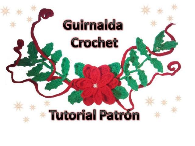Como tejer Guirnalda de navidad a crochet tutorial
