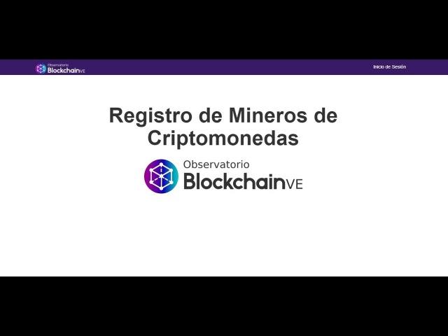 Pagina para registro de mineros en Venezuela