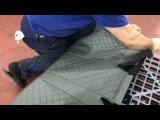 Установка авточехлов на сидения автомобиля. Установка чехлов с полным снятием в...