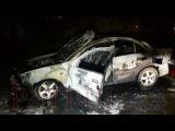 В Алматы полностью сгорел Nissan Almera