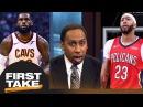 Stephen A.: If Anthony Davis joins LeBron James, Warriors no longer favorite | First Take | ESPN