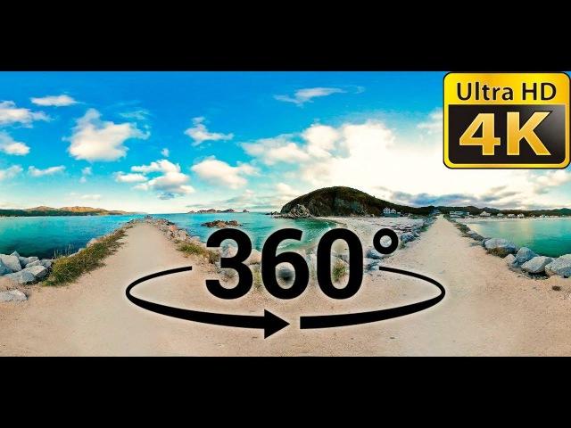 Триозерье - звуки моря, шум океана (4К видео 360 градусов)