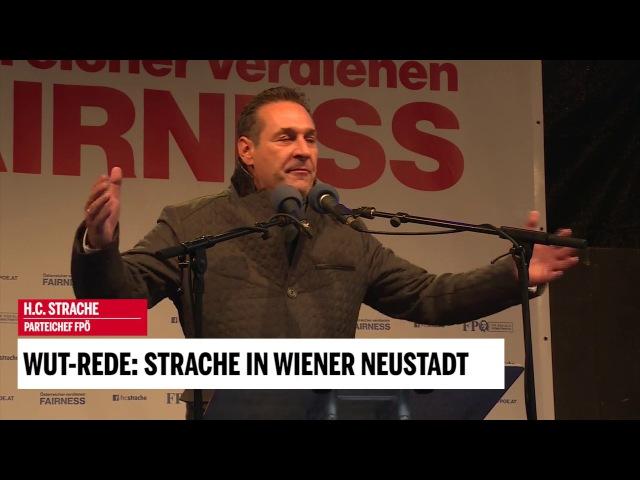 Wut-Rede: Strache in Wiener Neustadt