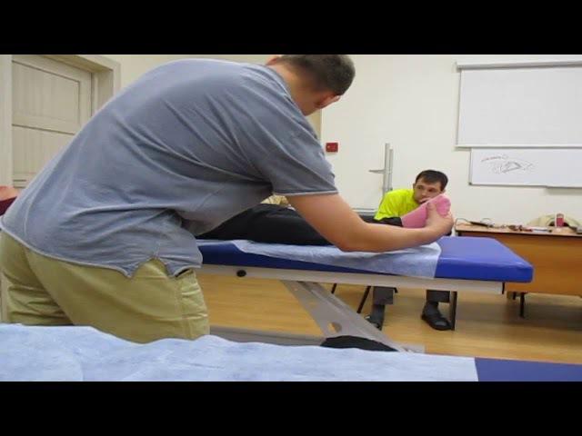 Отрывок с Занятия по Остеопатии Доктор Блохин Александр Геннадьевич