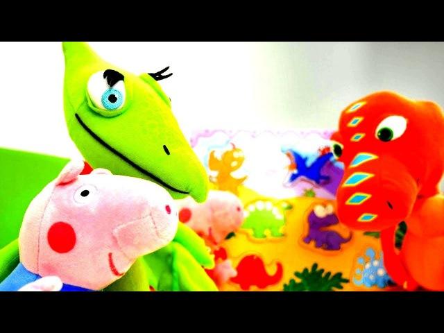 Peppa Wutz Spiele Peppa und Schorsch machen ein Dino Puzzle