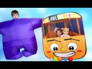 Wheels on the Bus song for kids Learn colors with balloons and Finger family rhymes
