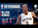 Rajon Rondo Dishes 18 Assists in Win vs 76ers December 10 2017