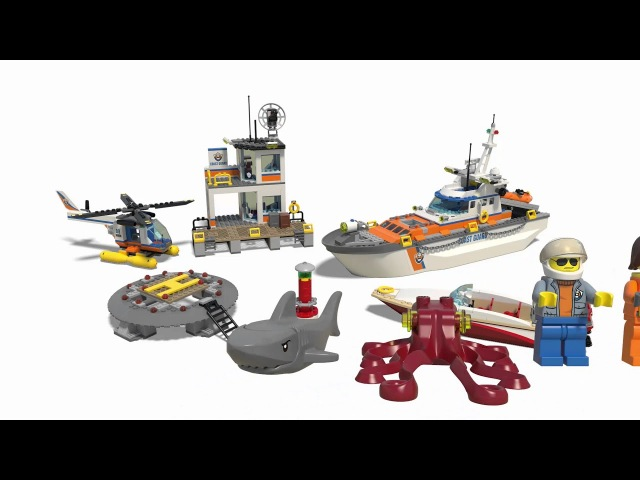 Конструктор LEGO City Coast Guard 60167 Штаб береговой охраны