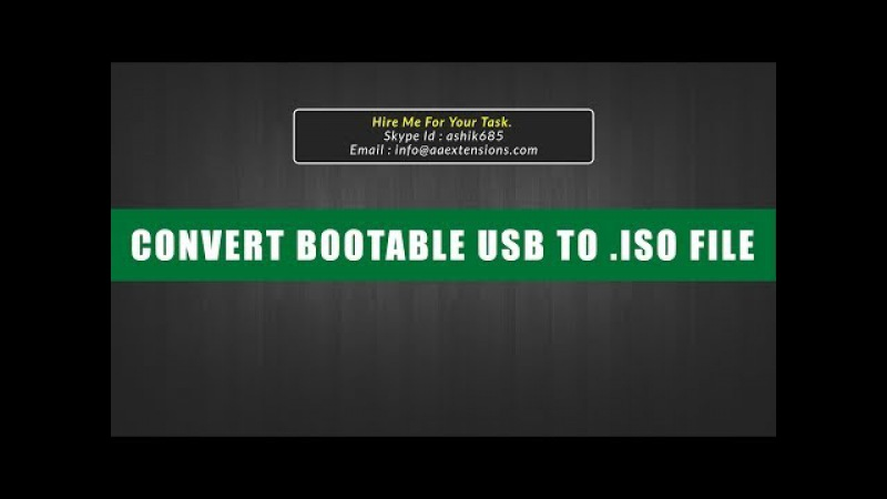 How to Convert a Bootable USB to an .iso File