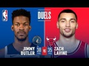 Jimmy Butler and Zach LaVine Duel in Chicago   February 9, 2018