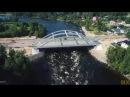 Лосево KIVINIEMI. Полет над рекой Вуокса. Лосевские пороги. Трасса Сортавала. 4k.