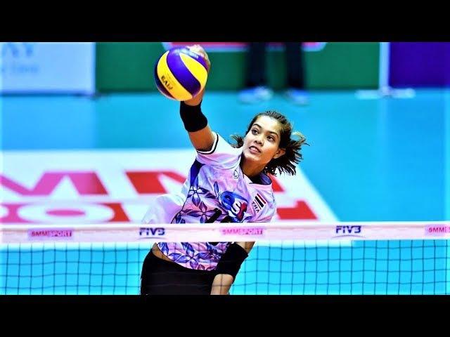 Top 10 Powerful Volleyball Spikes by Ajcharaporn Kongyot (อัจฉราพร คงยศ) | World Grand Prix 2017