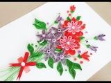 Quilling Flower For beginner Learning Video 5