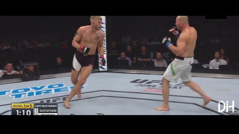 Alexander Gustafsson vs Glover Teixeira Fight Highlights Александр Густафссон vs Гловер Тейшейра