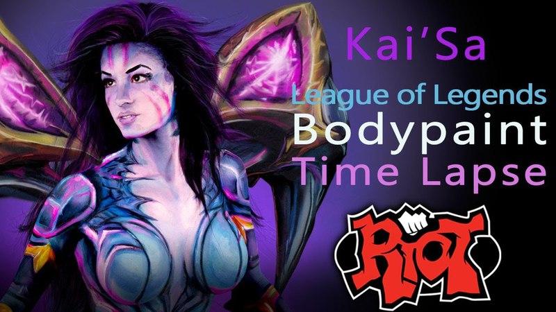 Kai'Sa League of Legends Body Paint Timelapse Tutorial