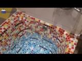 Оклейка старой чугунной ванны мозаикой