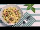 Рецепт за 90 секунд - Фарфалле с горошком и ветчиной